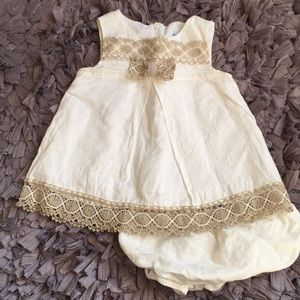Ivory Linen Dress and Bloomer
